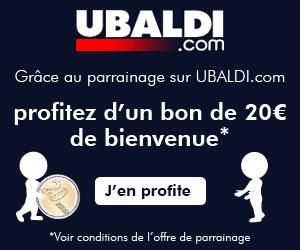 UBALDI : 20 euros offerts. dans Meilleures offres de parrainage ! 300250