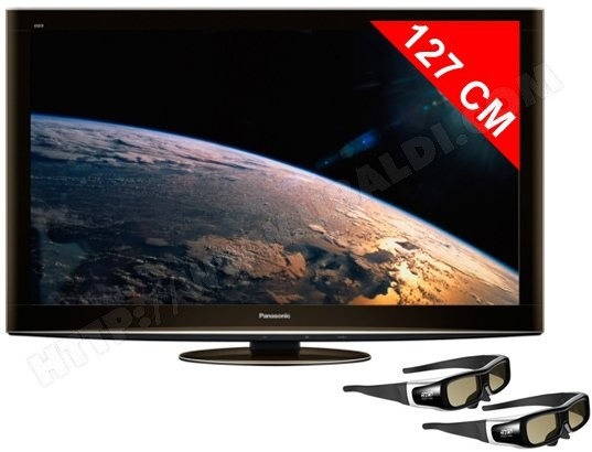 Téléviseur plasma 127 cm Full HD 3D PANASONIC TX-P50VT20