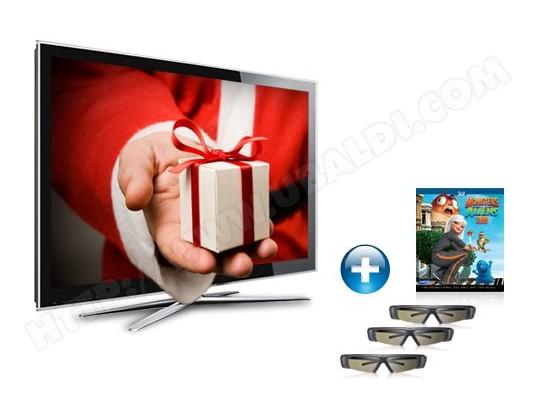 Téléviseur LCD 117 cm Full HD 3D SAMSUNG LE46C750R2 + Lunettes 3D SAMSUNG SSG-P2100T