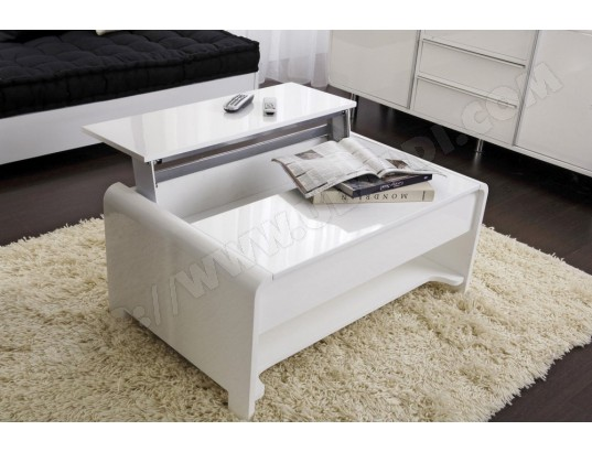 Table basse UB DESIGN San Francisco blanche