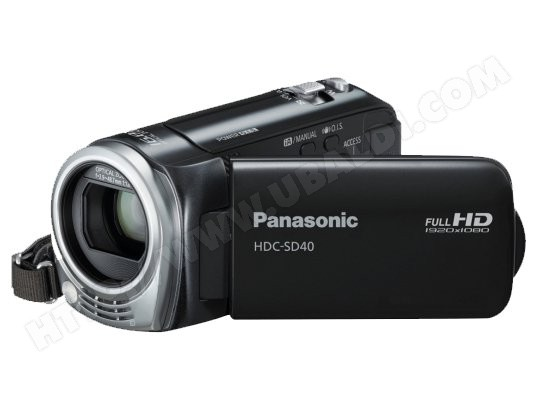 Caméscope carte mémoire PANASONIC HDC-SD40 noir