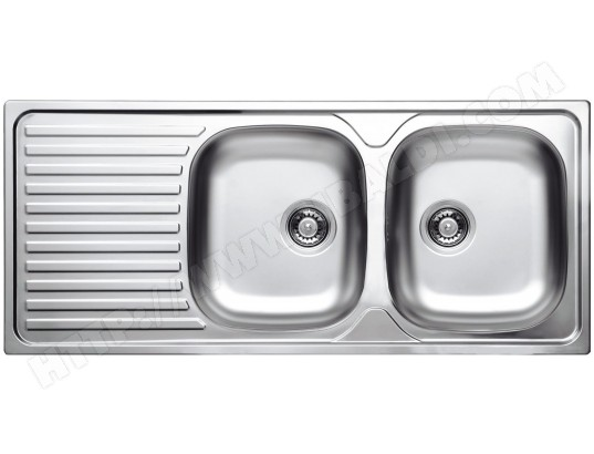 Evier inox de cuisine pas cher vente eviers inox telka for Taille evier double