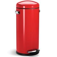 Poubelle à pédale SIMPLEHUMAN CW1262 Retro 30L rouge