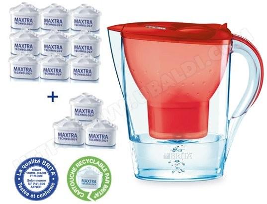 Carafe BRITA 1006119 MARELLA rouge + 12 maxtra