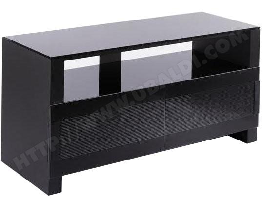 Meuble tv noir 4 for Meuble tv 100 cm longueur