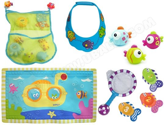 Tapis de bain bébé BABYSUN Tapis de bain PM1810+jouets de bain