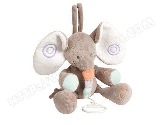 Peluche NATTOU Elephant musical Bubbles