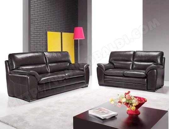 s lection de salon cuir pas cher sur. Black Bedroom Furniture Sets. Home Design Ideas