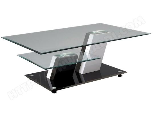 Table basse ub design habana noire et blanche pas cher - Table basse blanche et noire ...