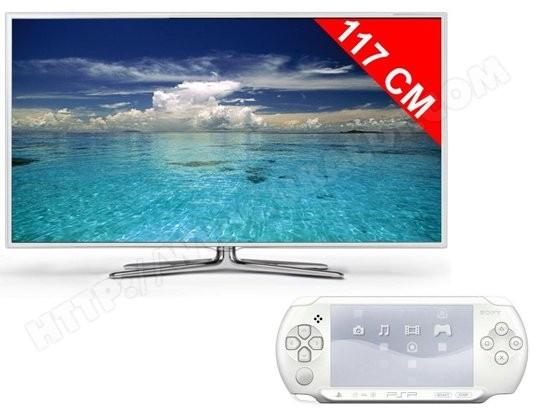 Téléviseur LED 117 cm Full HD 3D SAMSUNG UE46ES6710 + Sony PSP Street Blanche