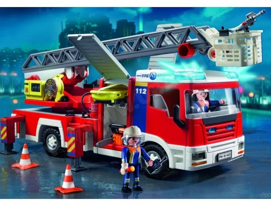 playmobil pompiers camion de pompier playmobil caserne. Black Bedroom Furniture Sets. Home Design Ideas