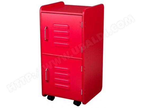 Meuble de rangement enfant kidkraft casier rouge 14322 pas cher - Meuble metallique rouge ...