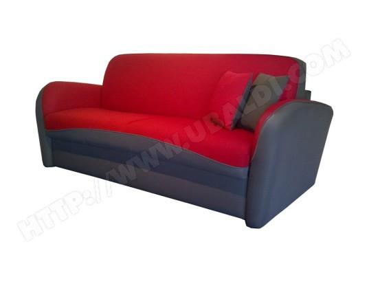 canap lit dunlopillo pop 1 anthracite et rouge pas cher. Black Bedroom Furniture Sets. Home Design Ideas
