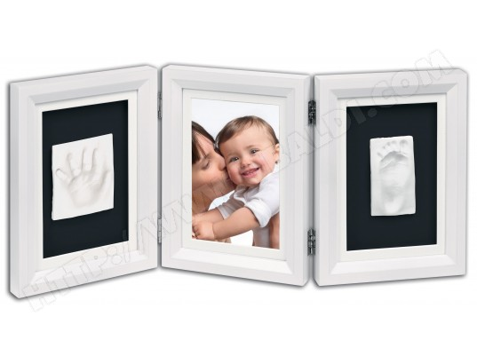 kit empreinte b b baby art classic double print frame noir blanc pas cher. Black Bedroom Furniture Sets. Home Design Ideas