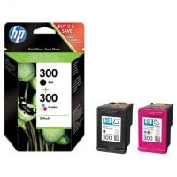 Pack cartouches dencre HP HP300 pack noir couleurs