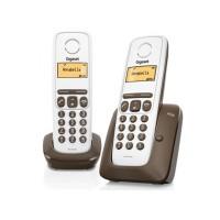 Téléphone sans fil SIEMENS GIGASET A130 Duo Chocolat
