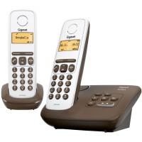 Téléphone sans fil SIEMENS GIGASET AL130A Duo chocolat