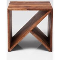 Table d'appoint KARE DESIGN Zigzag cube eb bois 40x40cm