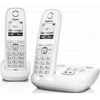 Téléphone mains libres SIEMENS GIGASET AS405A Duo blanc