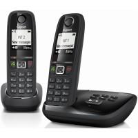 Téléphone mains libres SIEMENS GIGASET AS405A Duo noir