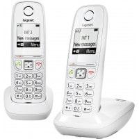 Téléphone mains libres SIEMENS GIGASET AS405 Duo blanc