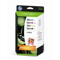 Pack cartouches dencre HP HP 364 Pack noircyanmagentajaune feuilles